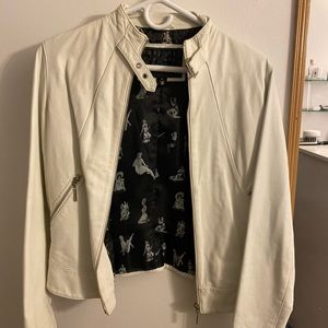 White leather jacket size M